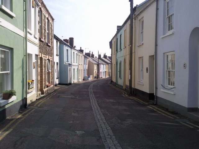 Picturesque street of colourful houses