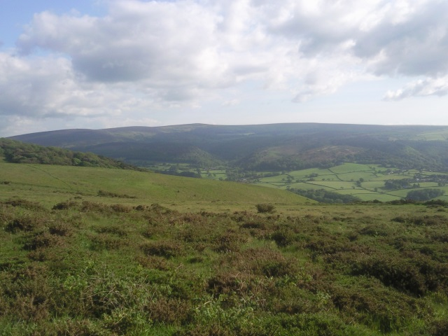Exmoor as seen from Bossington Hill