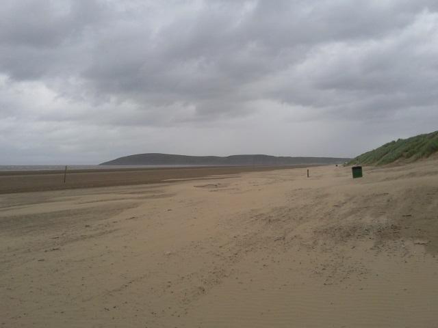 Brean Down, as seen from the beach at Brean