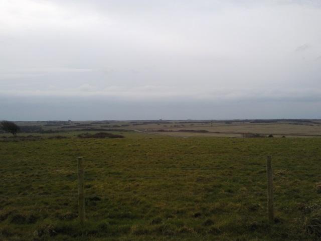 flat, green fields