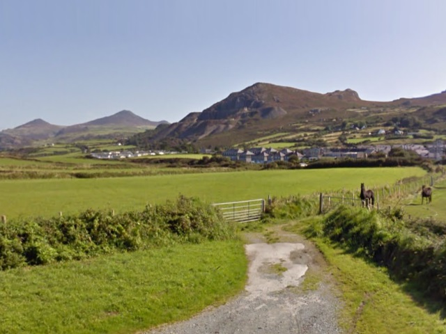 Google Earth image of Mynydd Nefyn and Yr Eifl