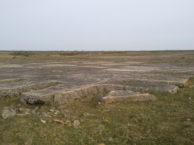 Concrete foundations at Hooper's Point