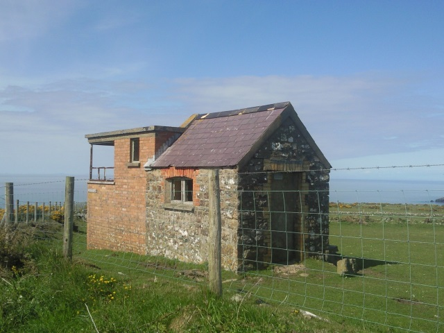 A hut on Cemaes Head