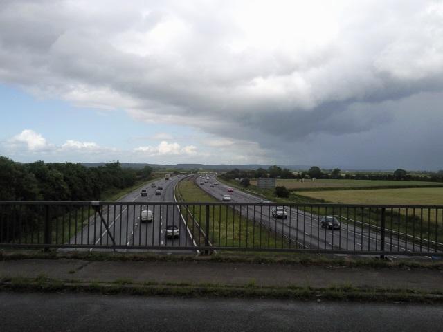 M5 Motorway, as seen from Wick Road, Bourton