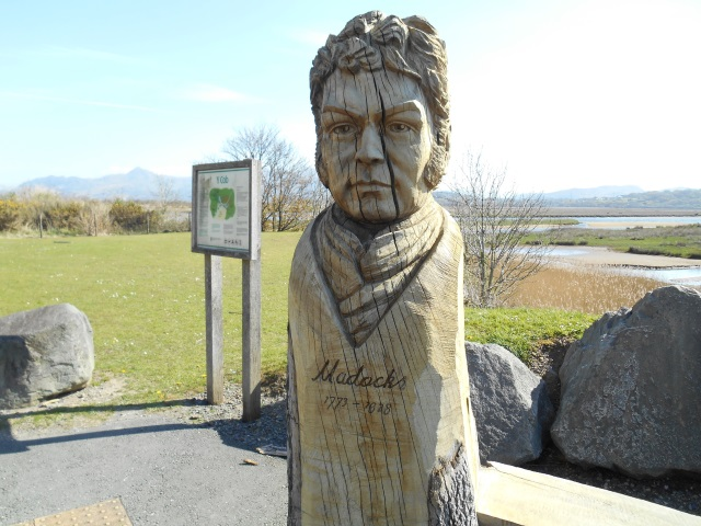 Wooden carved bust of William Madocks