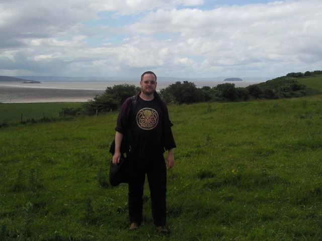 The Helpful Mammal with Sand bay as a backdrop