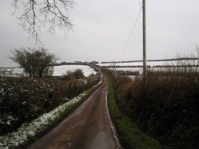Road towards Blaengwastad Farm
