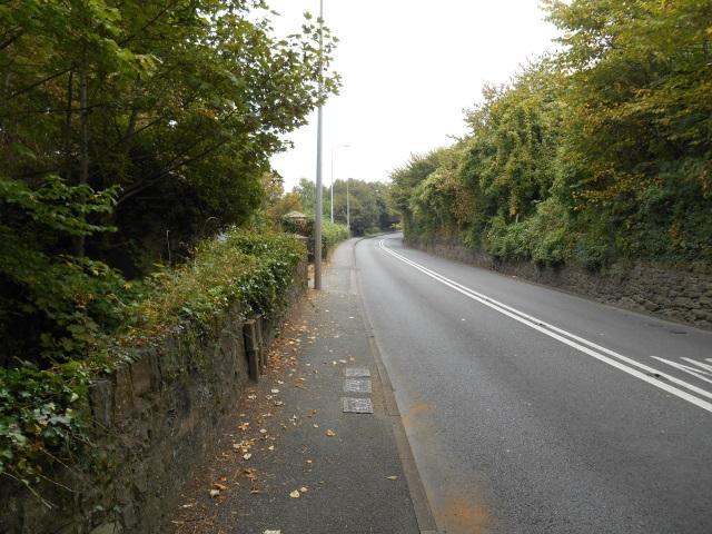 The A5, heading into Bangor