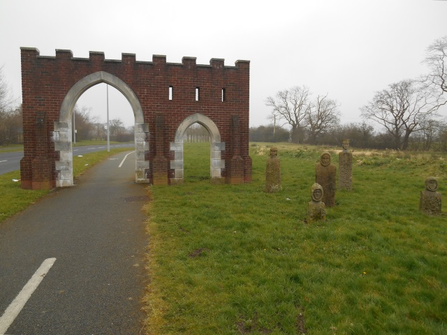 An arched folly in Cottam