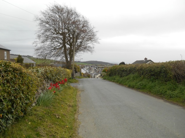 Road into Flookburgh from the marsh