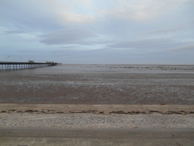 Southport pier but with no sea in sight