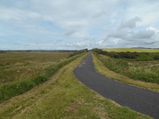 Footpath on a disused railway embankment