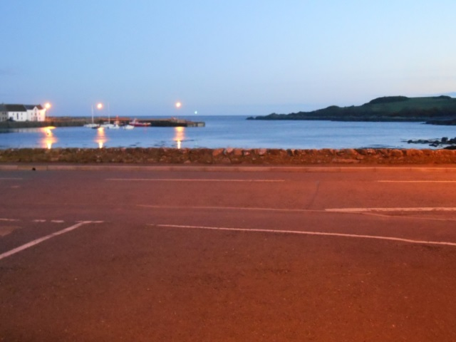 Isle of Whithorn seafront in terrible light