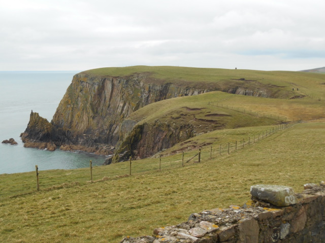Cliffs on the western side of the Mull, as seen from the café