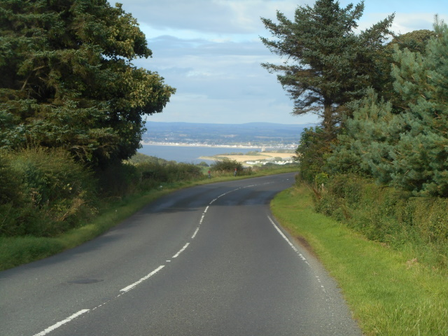 The A719 with Ayr in the distance