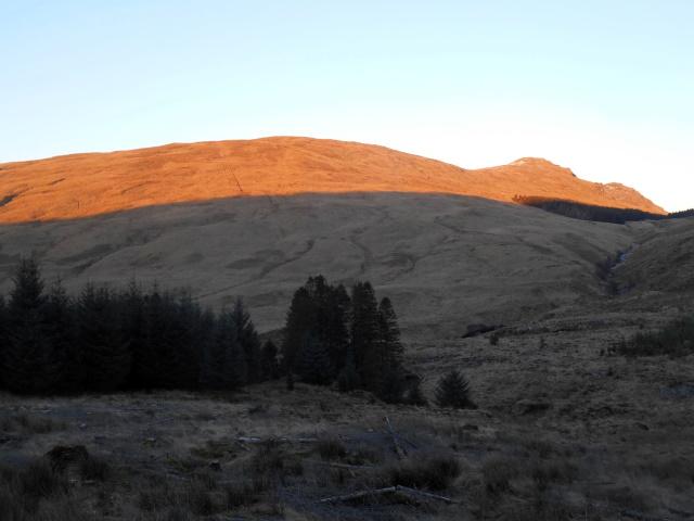 Sunset illuminating Cruach na Cioba