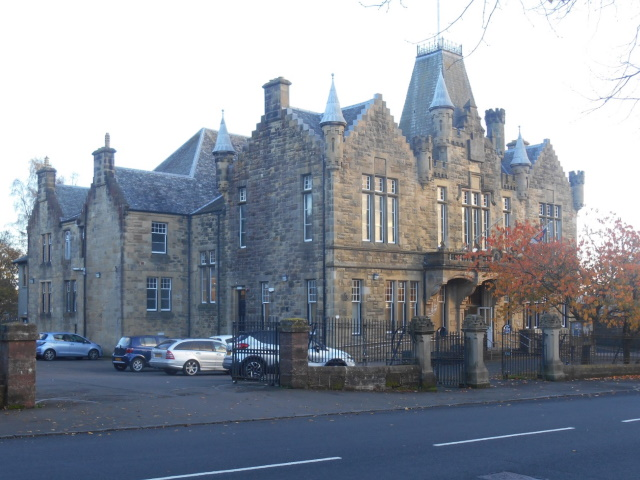 Victoria Hall - a Scottish Baronial style building on Sinclair St