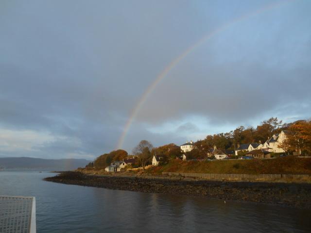 A rainbow seen from Kilcreggan Pier