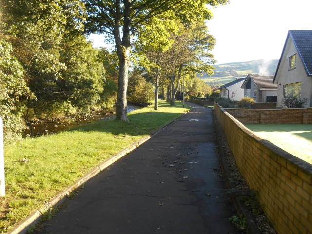 Leafy path by Noddsdale Water
