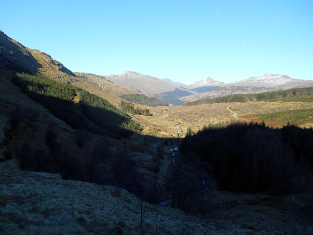 View back down Lettermay Burn