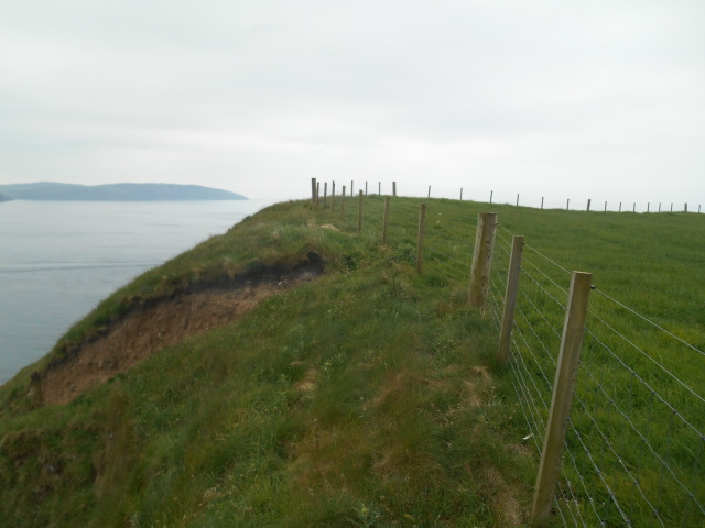 A cliff edge with no discernable path