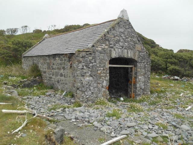 A ruined boathouse