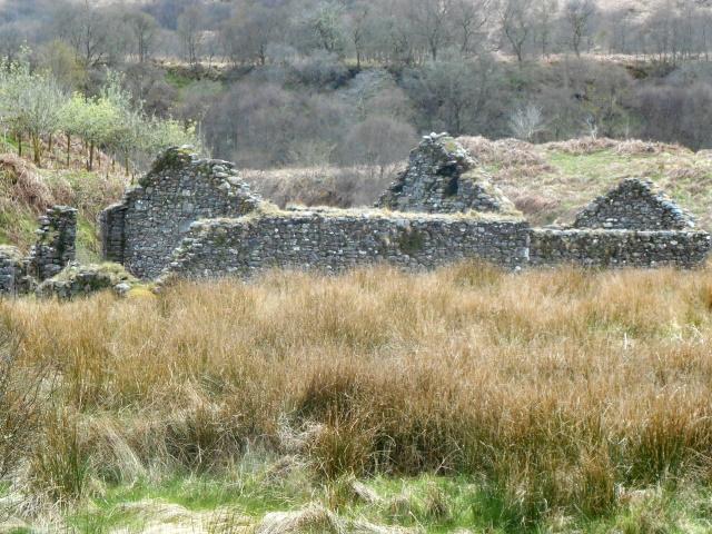Ruined shieling-huts