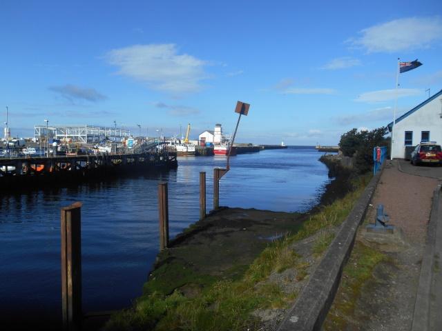The Water of Girvan and Girvan Harbour