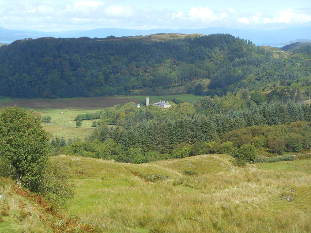 Ardmaddy castle distant