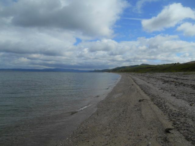Beach of mostly shingle