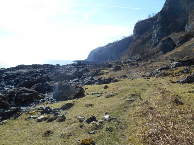 Path through boulderfield