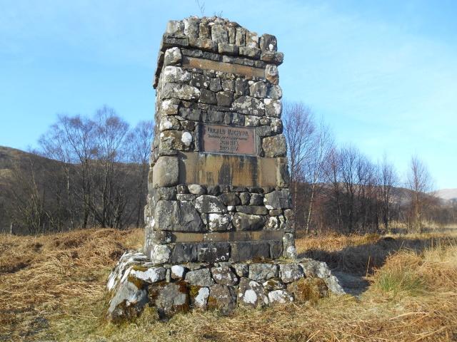 Dugald McPhail memorial cairn