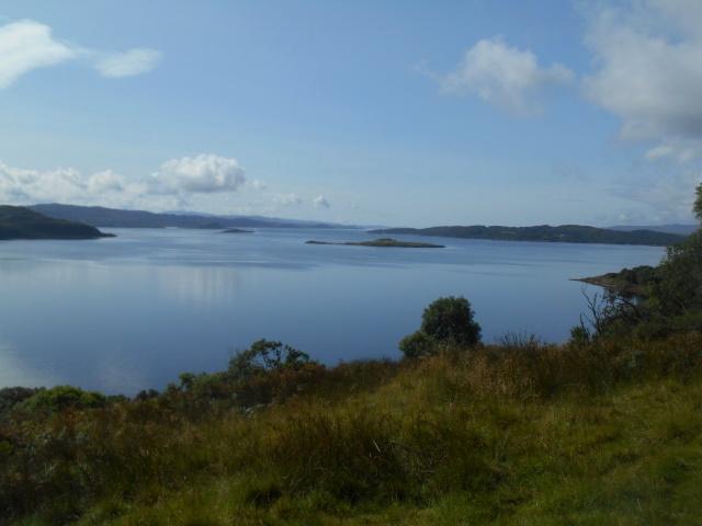 Increasingly blue skies over Loch Melfort