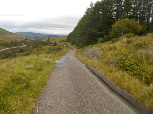Part of the Old Military Road incorporated into the modern road network