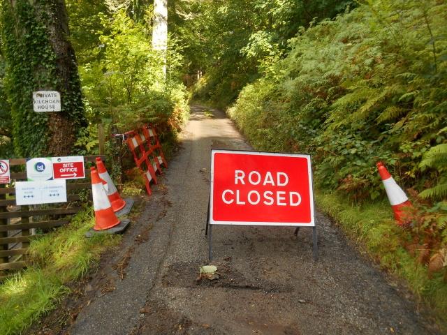 Sign: Road closed