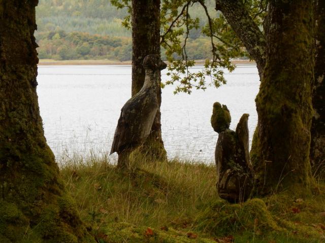 Tree stump carvings