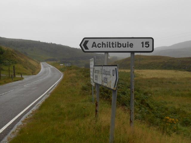 Sign: Achiltibuie 15
