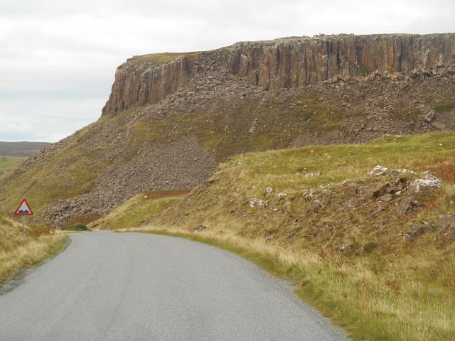 Columnar cliff resembling a Cadbury's Flake