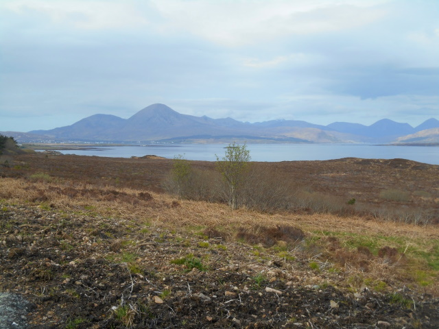 Broadford and Beinn na Caillich distant