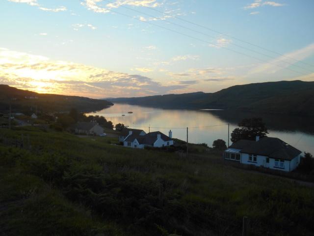 Loch Harcourt at sunset