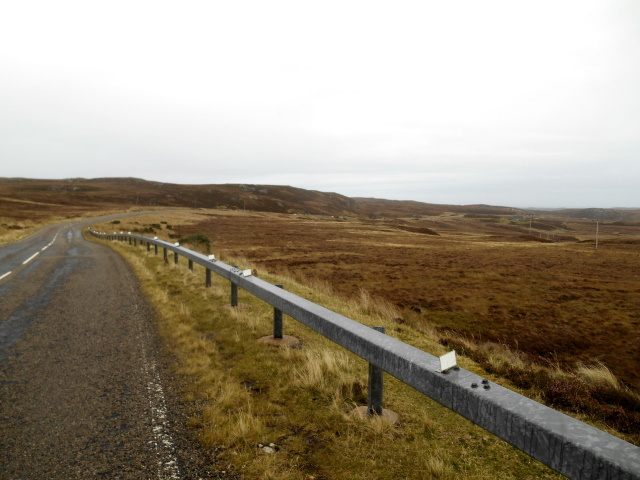 A836 approaching Druimbasbie