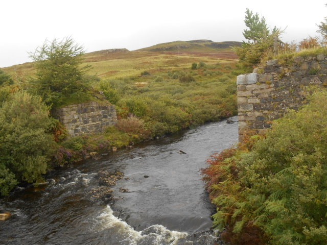 Empty abutments where the old bridge used to be.