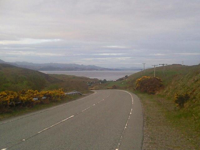Descending to Knock Bay