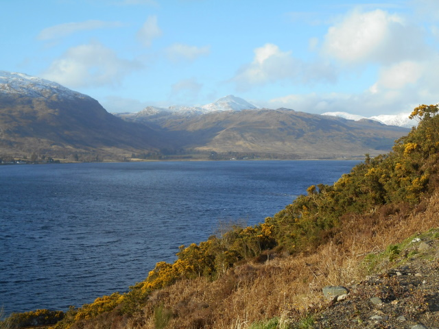 Loch Carron with mountains behind
