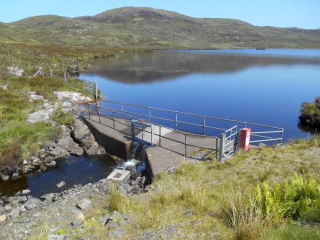 Dam on Loch Dhùghail