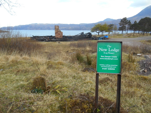 Charred remains of New Lodge