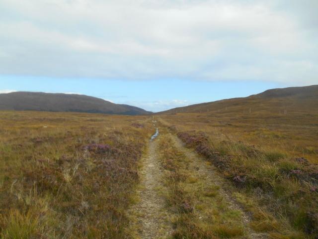 Old road across open moorland