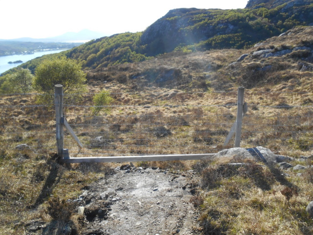 Path abruptly ending at a fence