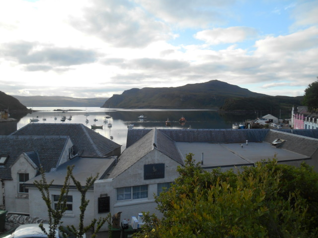 Portree Habour, as seen from behind the hotel