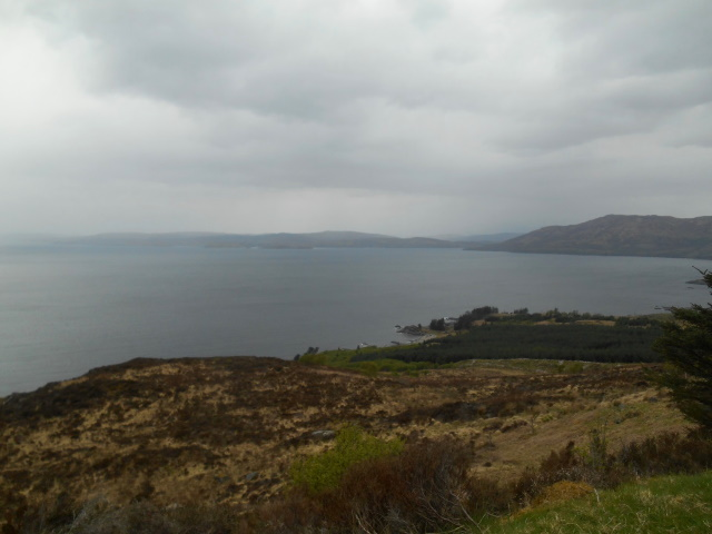 Skye being veiled by drizzle